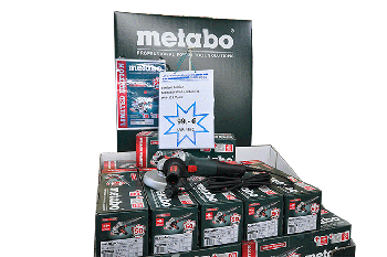 Im Angebot bei Firma Alfred Sinningen: Winkelschleifer von Metabo - auch Flex genannt.